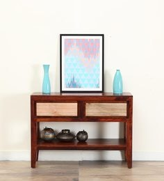Anitz Console Table In Dual Tone Finish