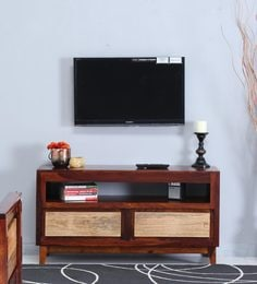 Anitz Entertainment Unit In Dual Tone Finish