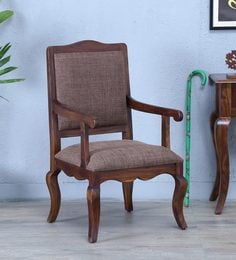 Anne Solid Wood Arm Chair In Provincial Teak Finish
