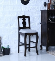 Anne Bar Chair In Warm Chestnut Finish