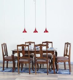 Anne Six Seater Dining Set In Provincial Teak Finish