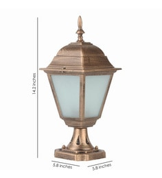 Garden lights online buy outdoor led lighting in india at best antique copper aluminium outdoor gate post light mozeypictures Images