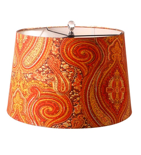 Buy orange cotton lamp shade by anasa online indian ethnic lamp orange cotton lamp shade by anasa aloadofball Image collections