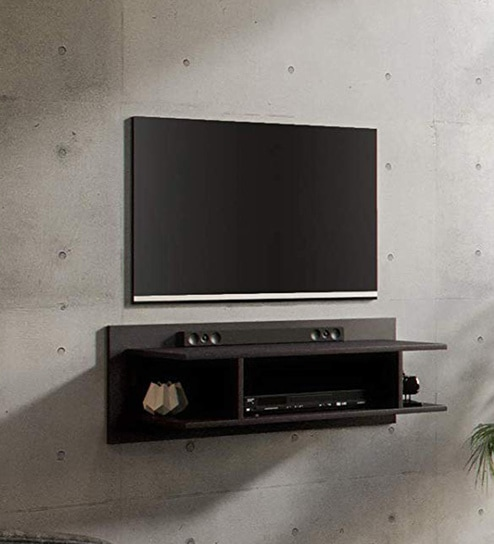 Andrew Wall Mounted TV Unit in Wenge Finish by Forzza