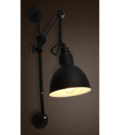 Buy black metal wall light by anemos online filament wall lights black metal wall light by anemos mozeypictures Image collections