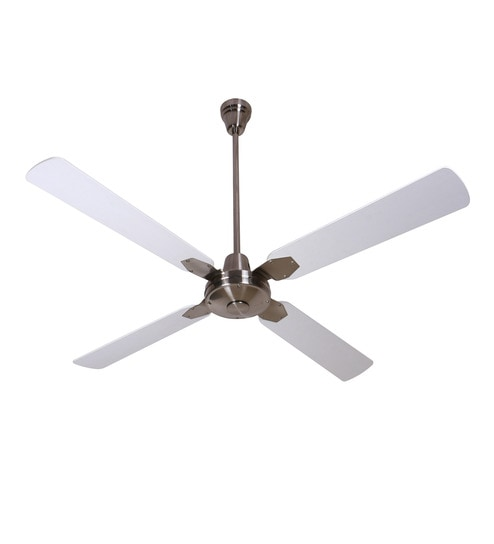 Buy anemos classic brushed nickel white 1350 mm designer ceiling fan anemos classic brushed nickel white 1350 mm designer ceiling fan mozeypictures