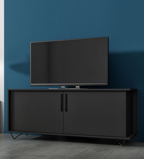 Angel Tv Unit In Black Colour By