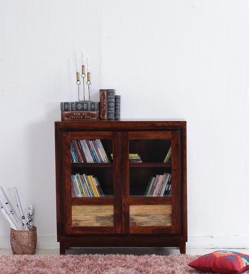 Anitz Book Case In Dual Tone Finish By Woodsworth