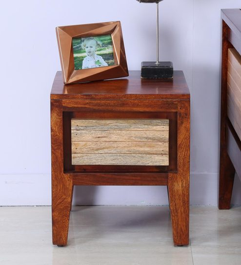 Anitz End Table In Dual Tone Finish