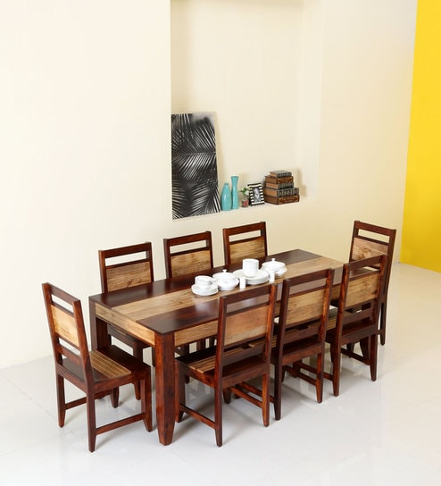 Got a big family? Exclusive 8 Seater dining table set for you ...