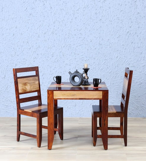 679549ef3f Anitz Solid Wood Two Seater Dining Set In Dual Tone Honey Oak