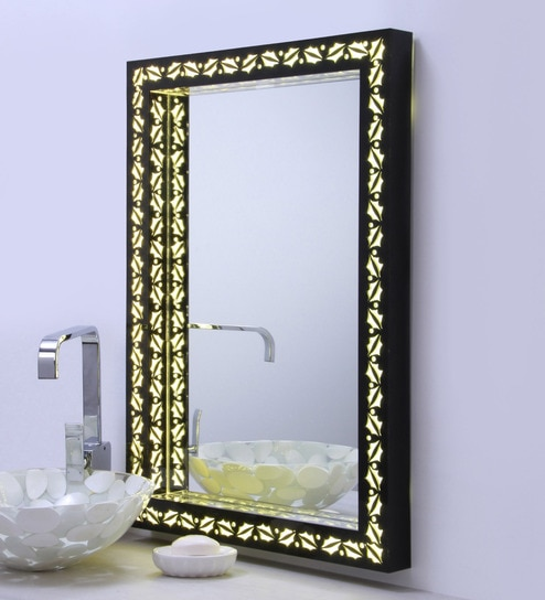Ankur Bathfit Acrylic Black LED Bathroom Mirror