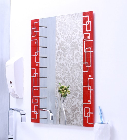 Ankur Bathfit Red Design Bathroom Mirror