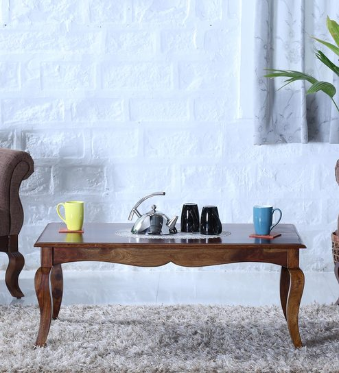 Anne Coffee Table in Provincial Teak Finish by Amberville