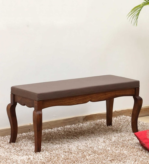 Anne Solid Wood Bench In Provincial Teak Finish By Amberville