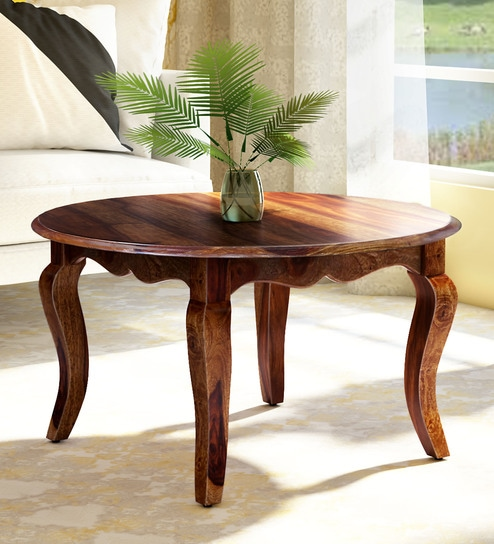 Anne Solid Wood Coffee Table In Provincial Teak Finish By Amberville