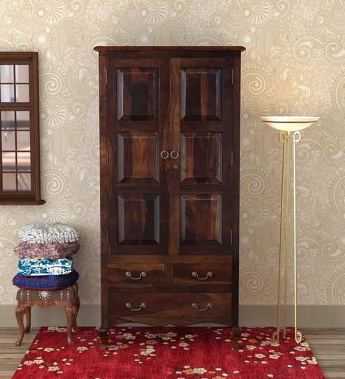 Incroyable Anne Solid Wood Wardrobe In Provincial Teak Finish By Amberville