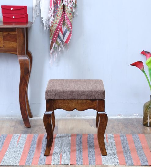 Anne Stool In Provincial Teak Finish