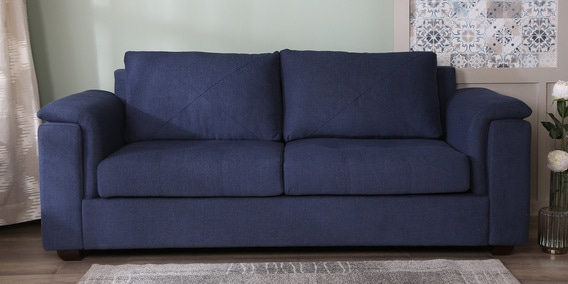 Terrific Andres 3 Seater Sofa In Navy Blue Colour By Woodsworth Uwap Interior Chair Design Uwaporg