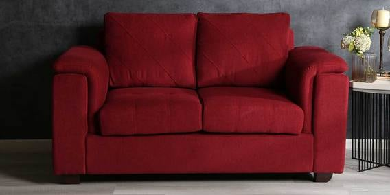 Andres 2 Seater Sofa in Garnet Red Colour by Woodsworth