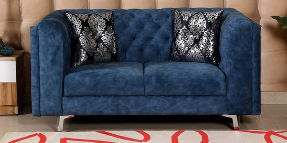 Anthony 2 Seater Sofa in Navy Blue Colour by Hollywood Furniture