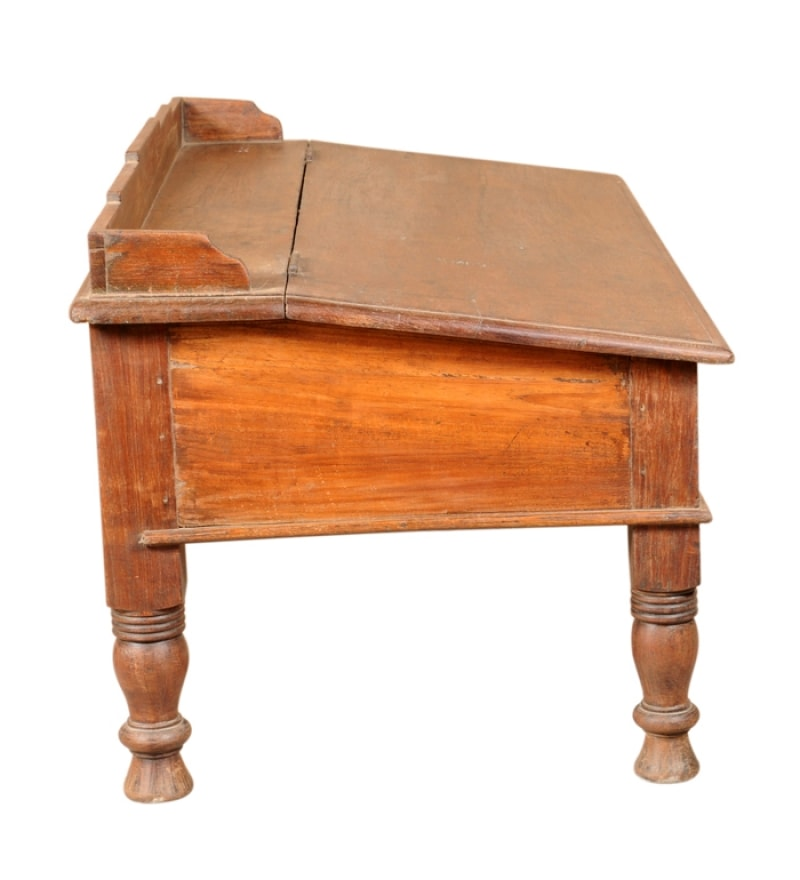 wood writing desks Little tree retro computer desk, 55l x 236d x 283h reinforced solid collection & wood table as writing desk or dining table, for living room or home office, cherry.