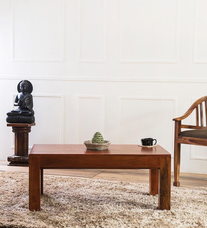 Lacanoia Coffee Table In Honey Oak Finish by Woodsworth