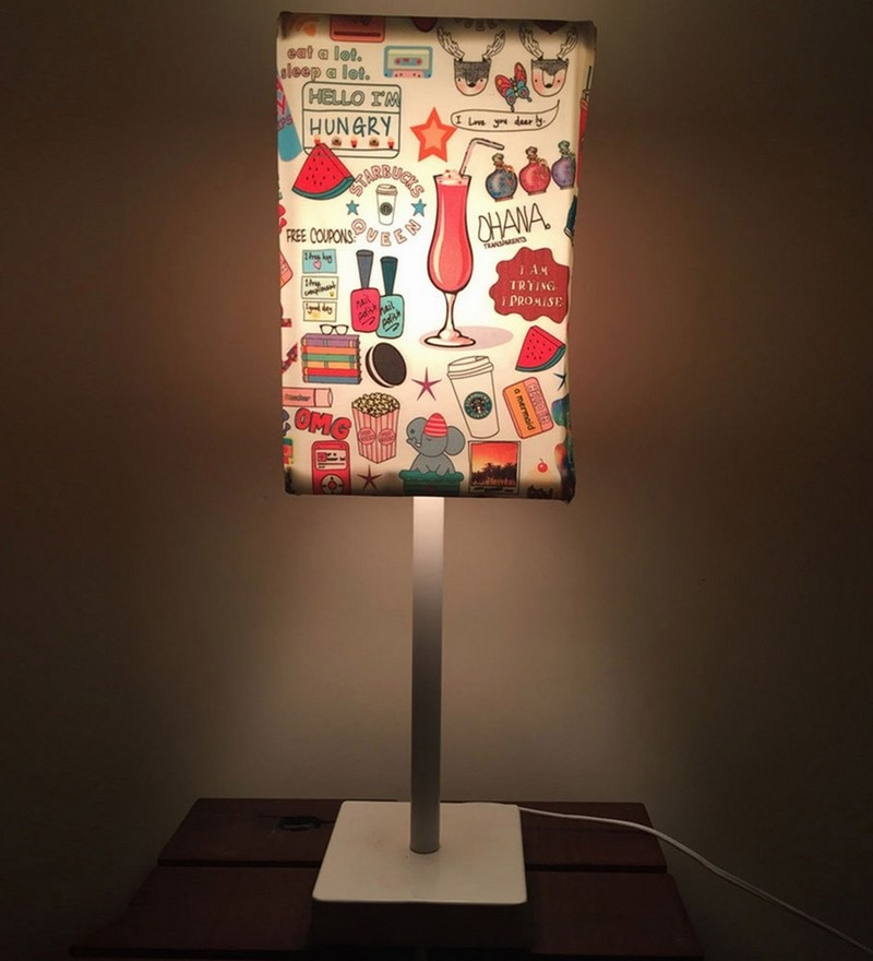 Multicolour Fabric Table Lamp by Nutcase