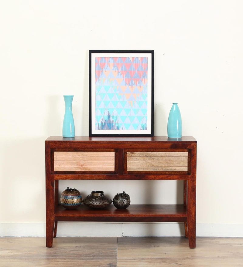 Anitz Console Table in Dual Tone Finish by Woodsworth