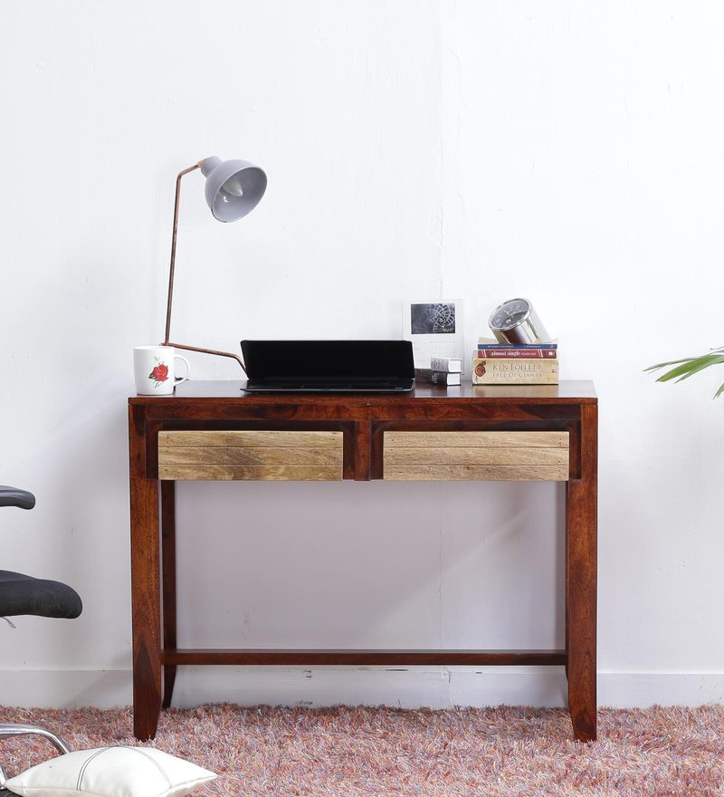 Anitz Study and Laptop Table in Dual Tone Finish by Woodsworth