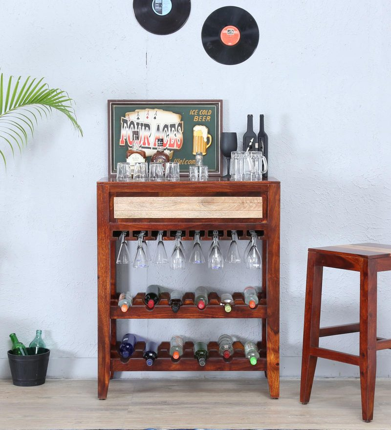 Anitz Wine Rack in Dual Tone Finish by Woodsworth