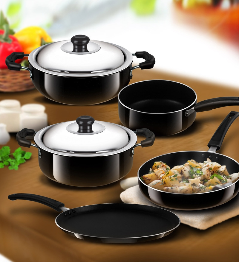 Non Stick Kitchen Set With Price: Buy Nonstick 5-Pieces Cookware Gift Set By Anjali Online