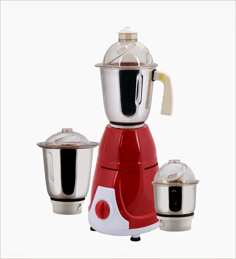AnjaliMix Prime Red Mixer Grinder - 600 W
