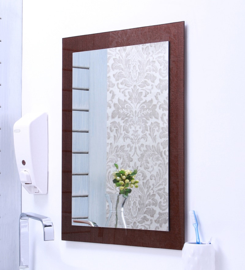 Ankur Bathfit Texture Brown Bathroom Mirror