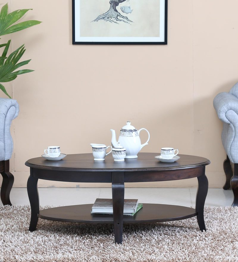 Anne Coffee Table in Warm Chestnut Finish by Amberville