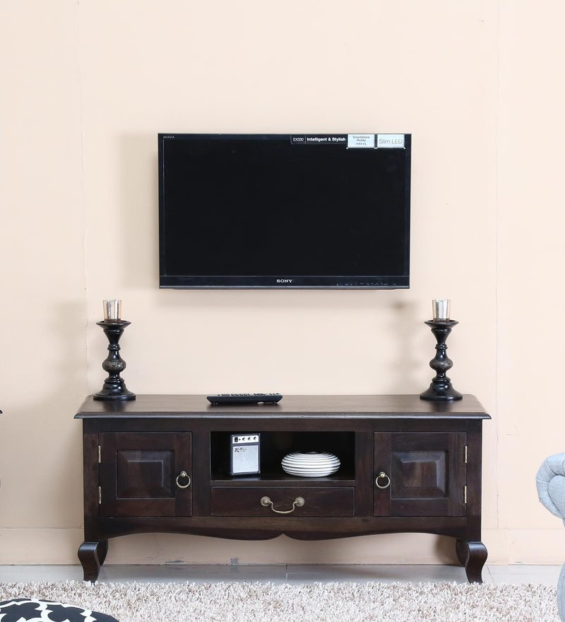 Anne Entertainment Unit in Warm Chestnut Finish by Amberville