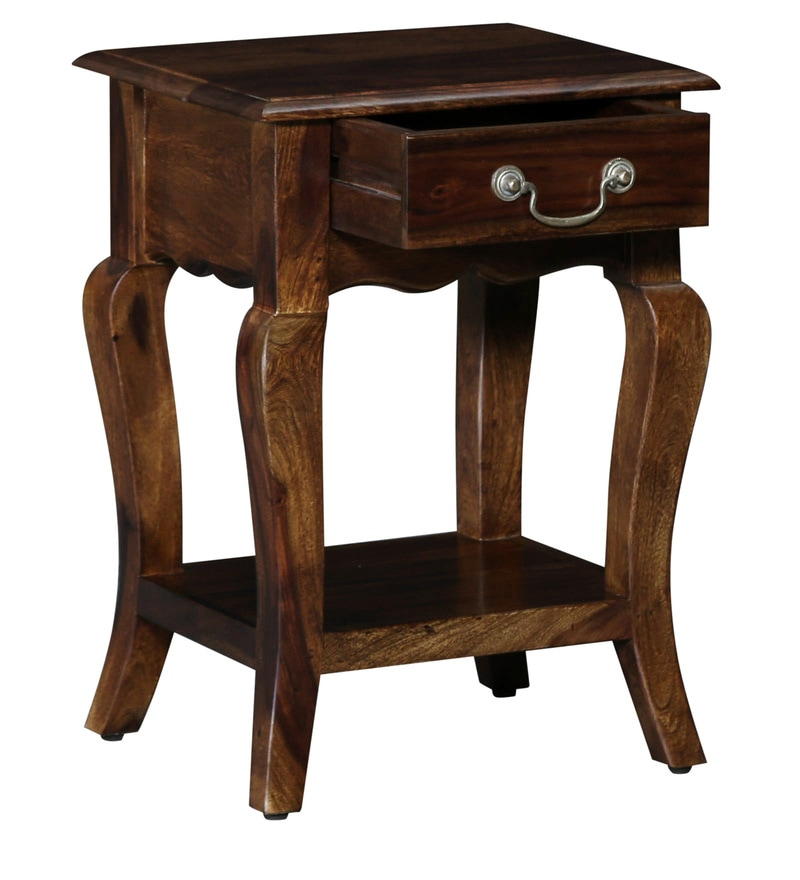 Buy Anne Solid Wood Night Stand In Provincial Teak Finish