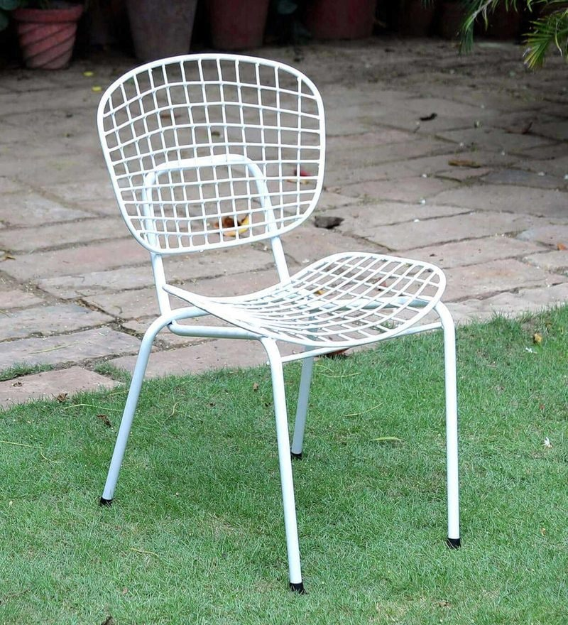 Annette Metal Chair in White Color by Bohemiana