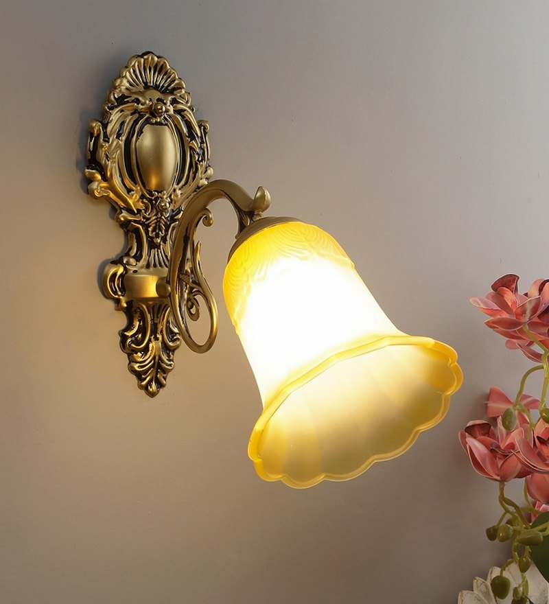 Antique Gold Wall Lamp Metal