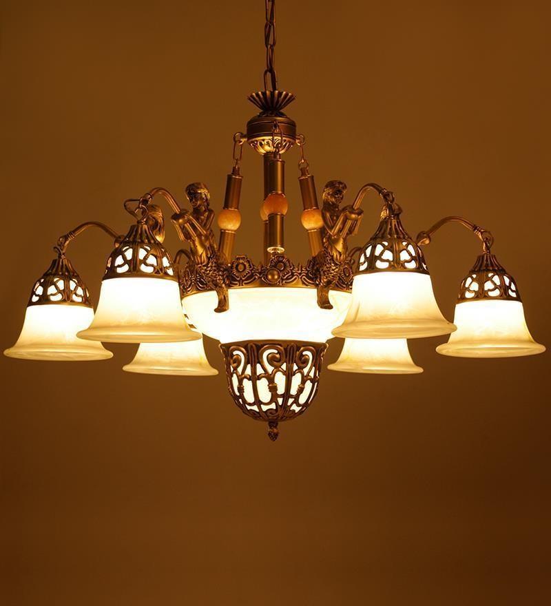 Buy Antique Portuguese Style Aluminium 9 Lamp Shades