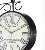 Black Iron Victoria Two Side Railway Clock Wall Clock by Anantaran
