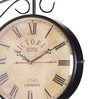 Black Iron Double Side Wall Clock by Anantaran