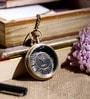 Anantaran Brown Brass Marco Polo Splendid Pocket Watch Chain