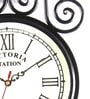Anantaran Black Iron Victoria Station Ethnic Wall Clock White Dial