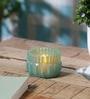 Anasa Blue Glass Crystal Votive Tea Light Holders
