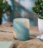 Blue Glass Votive Tea Light Holder by Anasa