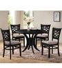 Anastacio Four Seater Dining Set in Dark Brown Finish by CasaCraft