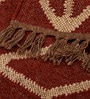 Carpet Overseas Red Beige Jute 36 x 24 Inch Kilim Designer Dhurrie