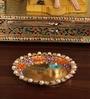 Anisha Creatives Multicolored Metal Aarti Thali