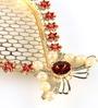 Anisha Creatives Multicolour Metal Puja Thali